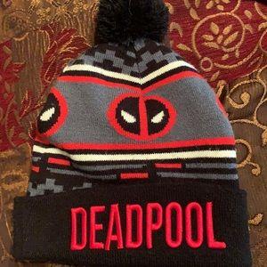 Deadpool beanie with Pom Pom